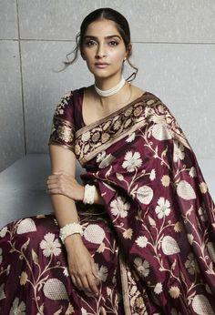 Let's take a look at the magic our couture masters are creating with designer sarees images for There is a saree style for every bride here. Banarsi Saree, Silk Sarees, Nauvari Saree, Saris, Indian Beauty Saree, Indian Sarees, Bengali Saree, Sabyasachi, Indian Dresses
