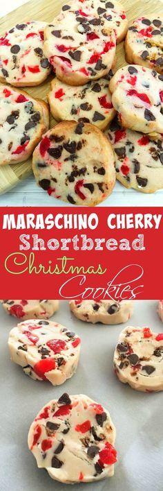 Maraschino Cherry Shortbread Christmas Cookies!