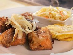 Griot (Island Fried Pork) recipe from Diners, Drive-Ins and Dives via Food Network