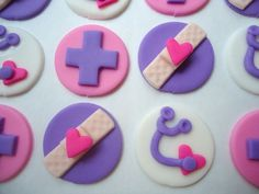 Fondant Cupcake Toppers - Little Doc - Edible Doctor or Nurse Cupcake Toppers. $20.00, via Etsy.