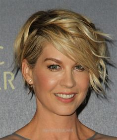Marvelous Jenna Elfman Short Wavy Hairstyle – Dark Blonde (Golden) – side view 1 The post Jenna Elfman Short Wavy Hairstyle – Dark Blonde (Golden) – side view 1… appeared first on I ..