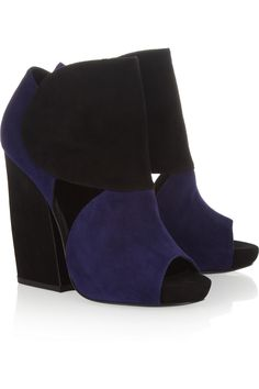 Pierre Hardy | Two-tone suede ankle boots  | NET-A-PORTER.COM