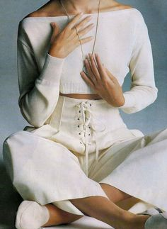 "yukizaire: 80s-90s-supermodels: ""Enlacez-Vous"", ELLE France, June 1989Photographer: Walter ChinModel: Anita Torne ✓ sporty spice ✓"