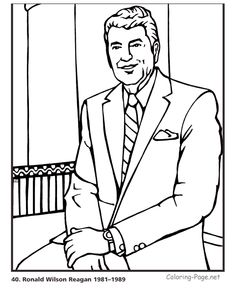 Ronald Reagan - US President coloring pages