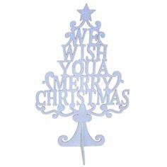 """Centro de mesa Arbol de Madera """"We wish you a Merry Christmas"""" http://www.airedefiesta.com/product/4062/0/0/1/1/Centro-Arbol-de-Madera.htm"""