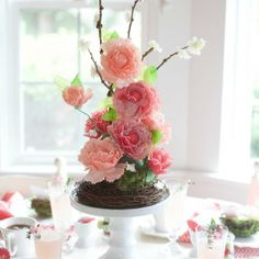 Lia Griffith Cupcake Liner Flower Centerpiece