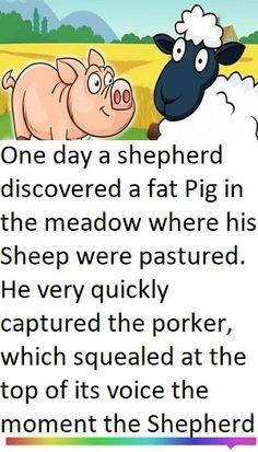 The Sheep and the Pig Who Is His Wife, Fat Pig, The Shepherd, Funny Stories, His Hands, Sheep, Funny Jokes, It Hurts, In This Moment