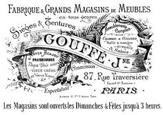 free printable ( for projects)  French Transfer Printable - Fabrique Paris