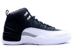 361b45b06737cc Jordans Shoes Air Jordan 12 Retro Playoff Black Varsity Red White Metallic  Sil  Air Jordan 12 - Usually