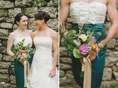 Rustic barn wedding florals by 7textures.com photos by M2