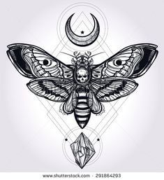 moth tattoo - Поиск в Google
