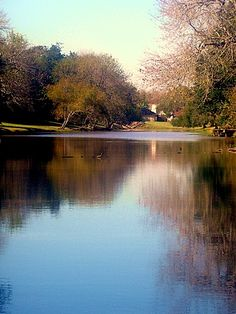placid waters around Sugarland Texas,USA
