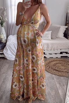 The maternity open back printed sling dress with sleeveless is so casual and you will like it.  #maternityoutfitscouples #maternitydresssummer #maternitydress #maternitydressescasual #pregnancystyle #pregnancystylesummer Floral Maternity Dresses, Summer Maternity Fashion, Floral Maxi Dress, Spring Skirts, Long Summer Dresses, Maxi Dress With Slit, Bodycon Dress, Dress Skirt, Maxi Styles