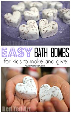Bath Bomb Recipe - Gifts Kids Can Make! Homemade Bath Bombs are one of our favou. Bath Bomb Recipe – Gifts Kids Can Make! Homemade Bath Bombs are one of our favourite gifts to mak Christmas Gifts For Mum, Handmade Christmas Gifts, Homemade Christmas, Christmas Diy, Holiday Gifts, Diy Bath Bombs Easy, Homemade Bath Bombs, Easy Diy Crafts, Diy Crafts For Kids