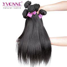 #Grade 5A 100% Peruvian Natural Straight Virgin Hair Weave 1B Color