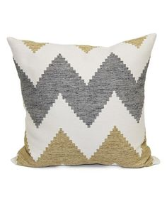 This Camel Zigzag Throw Pillow is perfect! #zulilyfinds