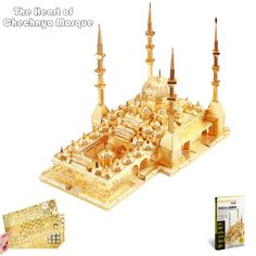 """11.99$  Watch here - """"PieceCool 2016 New Released 3D Metal Puzzle of """"""""The Heart of Chechnya Mosque"""""""" 3D DIY Russia Famous Architectural Model Kits Toys""""  #buyonline"""
