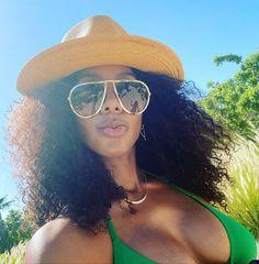 "'Last taste of Summer"" Round Sunglasses, Mirrored Sunglasses, Kelly Rowland, Close Up, October 20, Summer, Hat, Chocolate, Image"