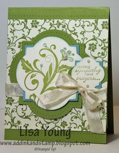 Lisa Young/Add Ink and Stamp: Flowering Flourishes Sympathy card (Festival of Prints Paper Stack)