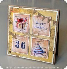 Anja: Happy Birthday Blueprint card http://der-kreative-wahnsinn.blogspot.com/2014/06/happy-birthday.html