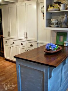 DIY Shallow Pantry Cabinet Using Custom Cabinet Doors from Cabinetnow.com