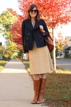 simple navy and khaki outfit- love!