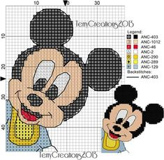 Baby Mickey Mouse x-stitch