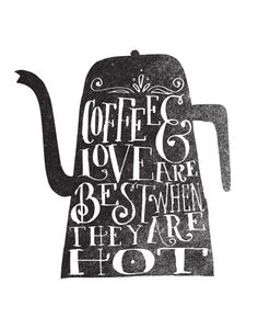 COFFE & LOVE Art Print by Matthew Taylor Wilson | Society6