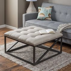 Belham Living Grayson Tufted Coffee Table Ottoman - There are so many bulky, overbuilt ottomans on the market that it's nice to see the Belham Living Grayson Tufted Coffee Table Ottoman and know that so...