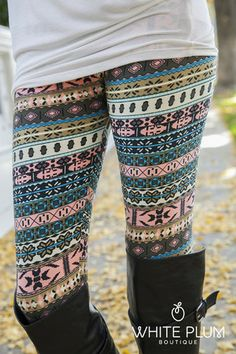 Pastel Winter Leggings