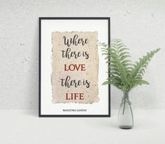 Mahatma Gandhi Quote, Inspirational Quote, Printable Gandhi Quotes, Thoughts by…