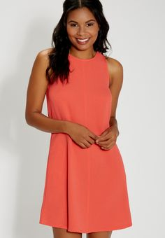 textured shift dress with pockets