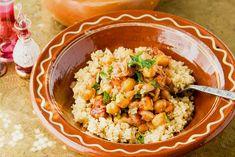 photo: Εύη Σκούρα Vegetarian Cooking, Quinoa, Risotto, Clean Eating, Favorite Recipes, Stuffed Peppers, Vegan, Fresh, Ethnic Recipes
