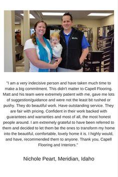 Capell Flooring and Interiors #anotherhappycustomer Boise, ID floors Meridian, ID floors