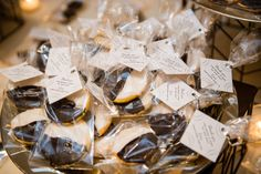 Black & White Cookies from Moishe's Bake Shop, New York City, as wedding favor. Photo by Brian Hatton Photography.