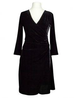 Damen Samtkleid, schwarz von Egerie Paris bei www.meinkleidchen.de