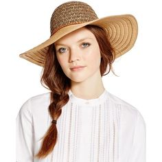 August Accessories Urban Safari Floppy Hat (£29) ❤ liked on Polyvore featuring accessories, hats, black, bohemian floppy hat, boho hat, two tone hat, sport hats and floppy hats