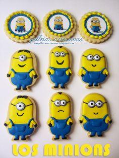 N.M. Galletas Artesanas: Cómo decorar galletas Minion
