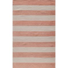 Alternating shades of light and darker pink  lend a casual and calming look to this 100-percent soft cotton rug. This beautiful rug features cut-loop construction which gives the motifs a high/low effect and added texture.