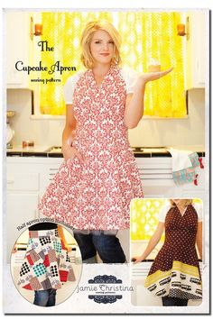 I just made myself an apron, but now I want to make this one--SO cute!  You can never have too many aprons, right?