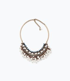 CHAIN AND PEARL NECKLACE-View all-Accessories-WOMAN | ZARA United States