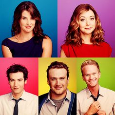 -Cobie Smulders, Alyson Hannigan, Josh Radnor, Jason Segel, and Neil Patrick Harris. Cast of How I Met Your Mother.