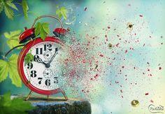 Создаём в Фотошоп коллаж «Улетающее время»