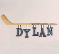 Possible wall letters if going with hockey theme.maybe if we liked hockey Boys Hockey Bedroom, Hockey Room, Hockey Baby, Kids Bedroom, Bedroom Ideas, Hockey Nursery, Wooden Wall Letters, Letter Wall, Painted Letters