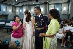 Este fue el momento mas emotivo de la boda, cuando nuestras madres nos dieron su bendición. Por mas que me dije a mi misma que no llorara no puede evitarlo!