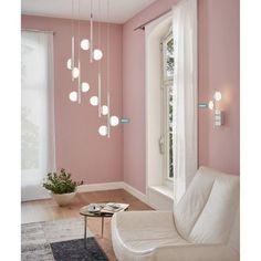 Κρεμαστό φωτιστικό οροφής LED, σε μοντέρνο στυλ, από ατσάλι σε χρώμιο και πλαστικό σατινέ. Είναι ντιμαριζόμενο. Από την Eglo.-------------------------------- Modern LED pendant lamp, in chrome color. It is dimmable.  #papantoniougr #papantoniou #pendantlight #decorideas #interior #eglo #interiordecor #interiorinspiration #instadecor #diakosmisi #lighting #lightingstore #pendantlighting #homedecor Led Ceiling Lamp, Aesthetic Rooms, Next At Home, Home Lighting, Satin, Decoration, Chrome, Bedroom Decor, House Design
