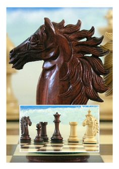 A magnificent example of the skill the woodworkers have achieved! We love the details they create! A quality set that we think is unequalled. X2053. Brought to you by ChessBaron.co.uk