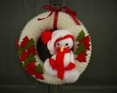 Couronne de Noël version tricot