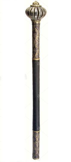 """Maça de batalha Indo/Persa """"Turcomana"""", medindo ao todo cerca de 54.5cm"""