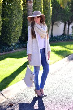Creamy winter outfit